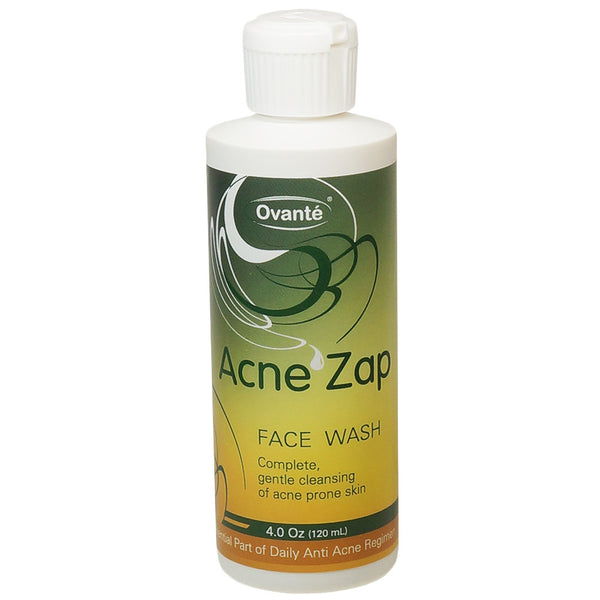 Natural Face Wash Acne Zap, Therapeutic Product Effectively Eliminate Bacteria, Prevent & Control Acne Breakouts, Part of Daily Acne Regimen. <s class='face'> </s> - ovante