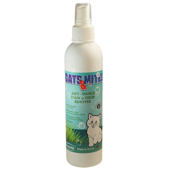 Cats n Mites Therapeutic Spray For Cleaning, Treatment and Care of Carpets, Upholstery, Cat Beds, Dishes  - 8.0 Oz (240 Ml) <s class='cats'> </s> - ovante