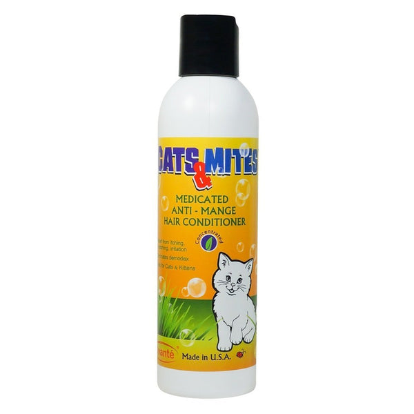 Cats n Mites Medicated Hair Conditioner for Management Of Mange In Cats & Kittens, Stop Skin Itching, Antibacterial, Antifungal.  - 6.0 OZ <s class='cats'> </s> - ovante