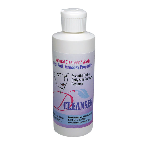 Ovante D Cleanser Natural Demodex Mites Face Wash  - 4.0 OZ <s class='face'> </s> - ovante