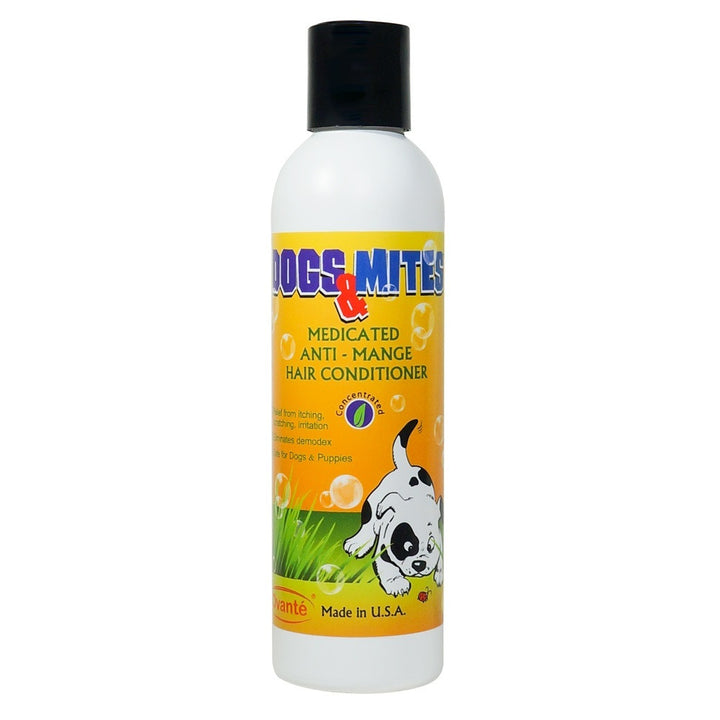 Dogs n Mites Medicated Hair Conditioner For Treatment and Management Of Demodex Mange, Folliculitis, Hair Loss In Dogs & Puppies -  6.0 OZ (Concentrated)<s class='dogs'></s> - ovante