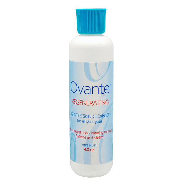 Ovante Regenerating Cleansing Exfoliant for Sensitive, Demodex, Rosacea & Acne Prone Skin, Cleanse, Exfoliate, Soothe and Hydrate - 4.0 oz<s class='face face'> </s> - ovante