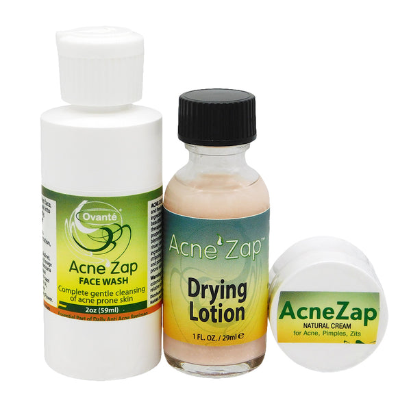 Acnezap Complete Care Kit - Facial  Wash, Spot Treatment Drying Lotion And Anti-Acne Cream <s class='face'> </s> - ovante