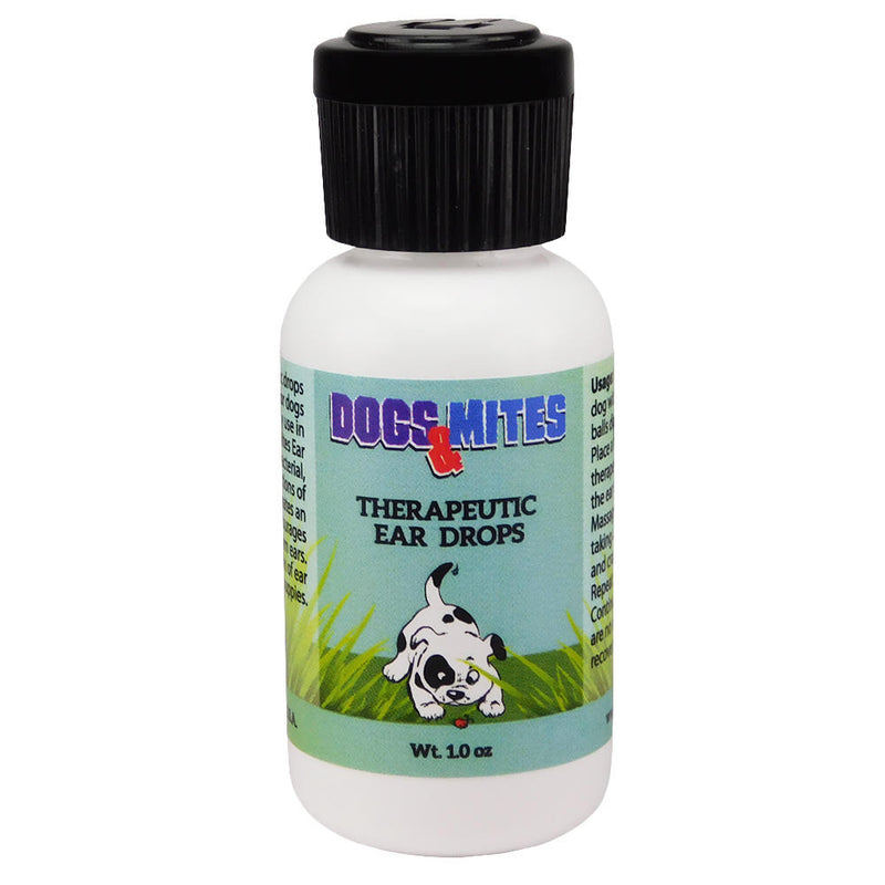 Dogs n Mites Ear Drops For Dogs and Puppies with Demodex, Yeast, Bacterial, Viral Infection of External Ear. BEST Solution for Ear Mites – 1.0 OZ  <s class='dogs'>&nbsp;</s> - ovante
