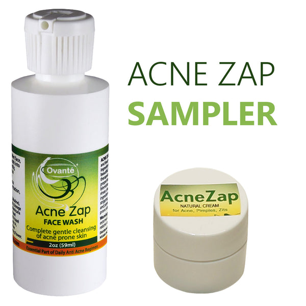 Ovante - Get Started | Acne Zap Samples | Anti Bacterial Therapeutic Face Wash Plus Severe Cystic Acne Cream. - ovante