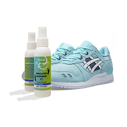Therapeutic Deodorizing Spray - Long Lasting Protection, Athletes Strength - Eliminates Foot, Socks, Shoe Odors - Kills Bacteria & Fungus with Tea Tree, Neem & Lemon Grass Essential Oils - 4.0 oz - ovante
