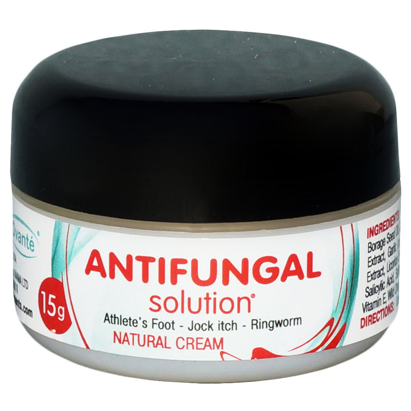 Anti Fungal Solution - Natural Cream For Candidiasis (Facial Candida), Ringworm, Fungus, Groin Infections, Athletes Foot, Jock Itch, ringworm, Fungal Nappy Rash.  - 0.5 oz - ovante