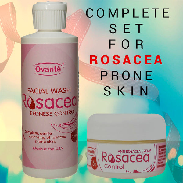 Ovante - Get Started | Rosacea Control Samples | Therapeutic Face Wash Plus Natural Cream. - ovante