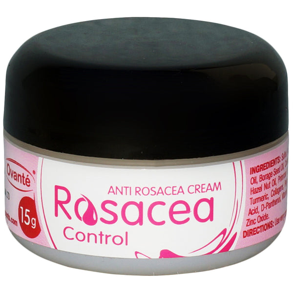 Ovante Rosacea Control - Skin Care Cream Relief Face Irritation, Red Acne Bumps, Reduce Hydrates Soothes and Calms Dry Rosacea Prone Skin   - 0.5 Oz - ovante