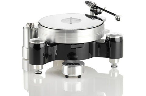 Solid Wood Round w/ WTB-370 Tonearm & MP110 Cartridge