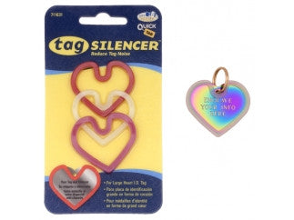3-pack Red Heart ID Tag Silencer / Protector