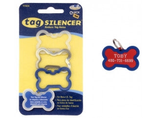 3-pack Blue ID Tag Silencer / Protector