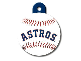 Houston Astros Round Baseball Dog ID Tag