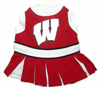 Wisconsin Badgers Dog Cheerleader Uniform