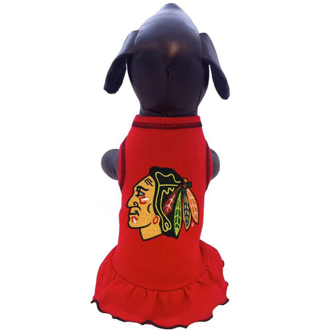 Chicago Blackhawks Ice Girl Dog Dress