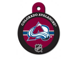 Colorado Avalanche Round Hockey Puck Dog ID Tag