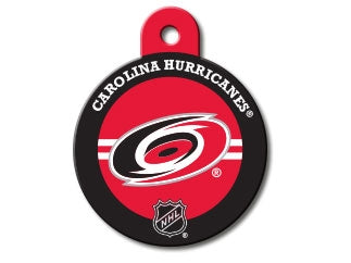 Carolina Hurricanes Round Hockey Puck Dog ID Tag