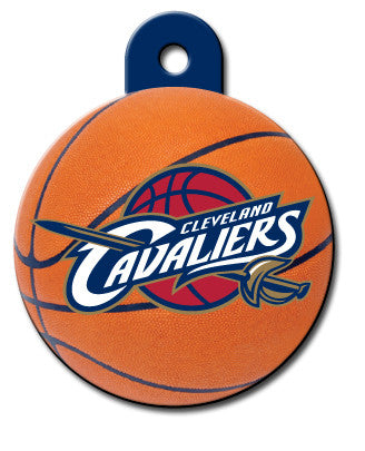 Cleveland Cavaliers Round Basketball Dog ID Tag