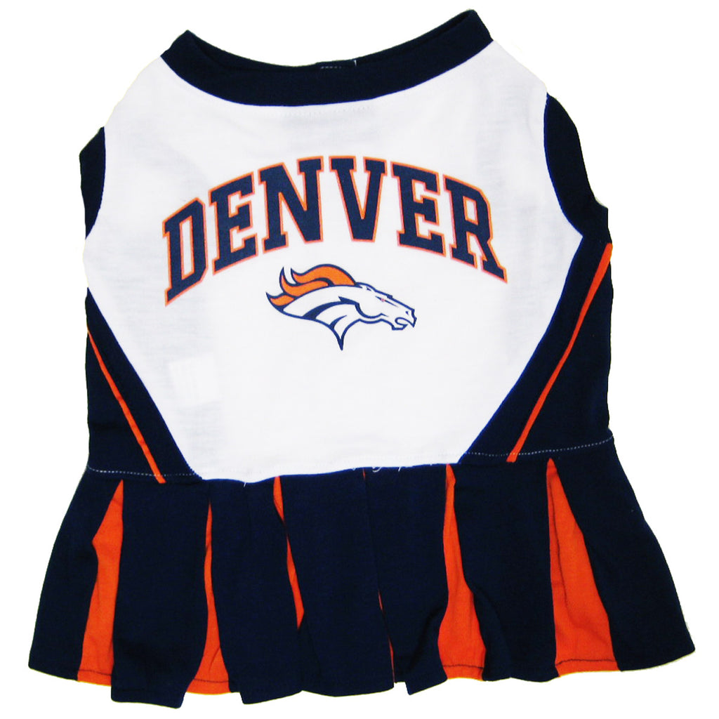 Denver Broncos Dog Cheerleader Uniform