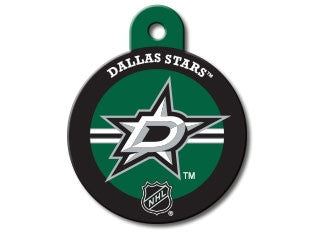 Dallas Stars Round Hockey Puck Dog ID Tag