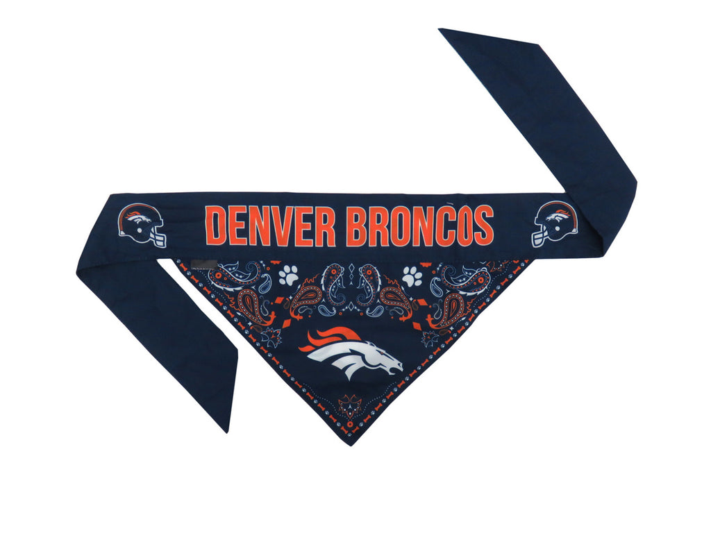 Denver Broncos Reversible Dog Bandana