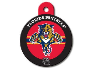 Florida Panthers Round Hockey Puck Dog ID Tag
