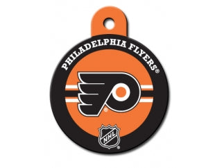 Philadelphia Flyers Round Hockey Puck Dog ID Tag