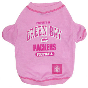 Green Bay Packers Pink Dog T-Shirt