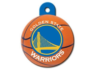 Golden State Warriors Round Basketball Dog ID Tag