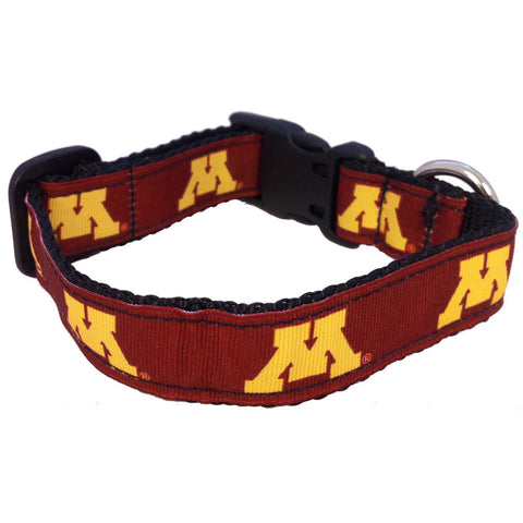 Minnesota Golden Gophers Premium Dog Collar