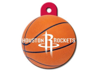 Houston Rockets Round Basketball Dog ID Tag
