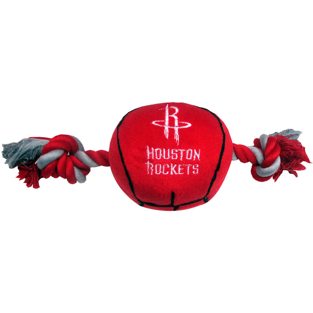 Houston Rockets Basketball Plush and Rope Toy