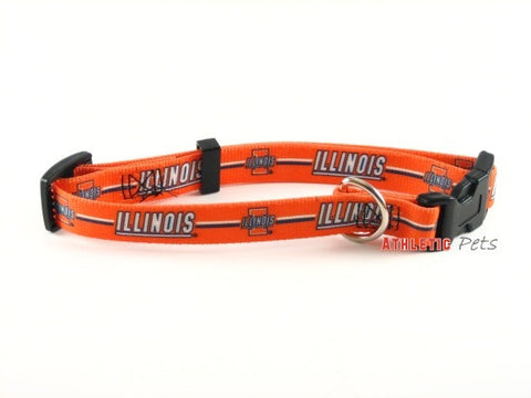 Illinois Fighting Illini Dog Collar 2 (Discontinued)