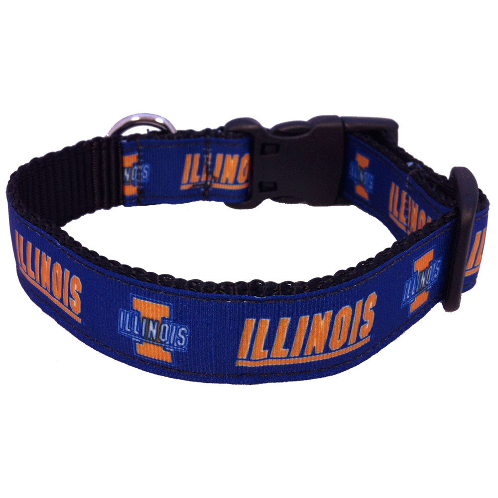 Illinois Fighting Illini Premium Dog Collar
