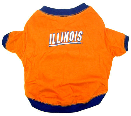 Illinois Fighting Illini Dog T-Shirt