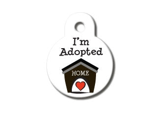 I'm Adopted Cat ID Tag
