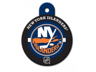 New York Islanders Round Hockey Puck Dog ID Tag