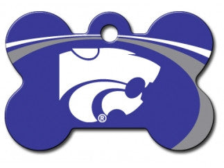 Kansas State Wildcats Dog ID Tag