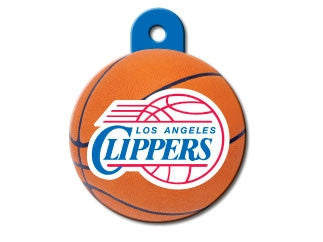LA Clippers Round Basketball Dog ID Tag