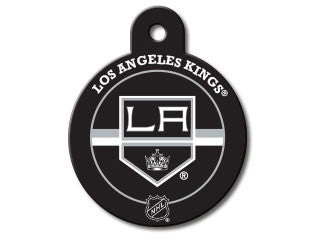 LA Kings Round Hockey Puck Dog ID Tag
