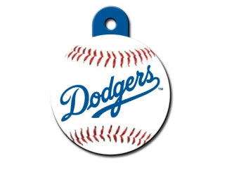 LA Dodgers Round Baseball Dog ID Tag