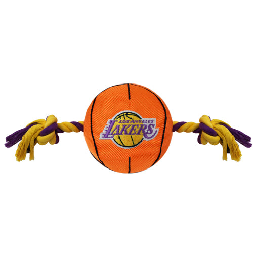 LA Lakers Basketball Nylon and Rope Toy