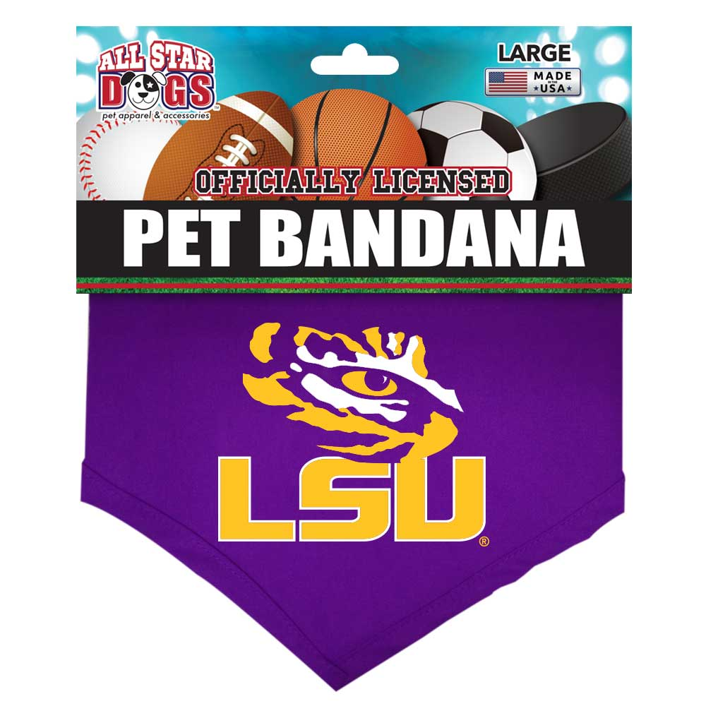 LSU Louisiana State Tigers Dog Bandana