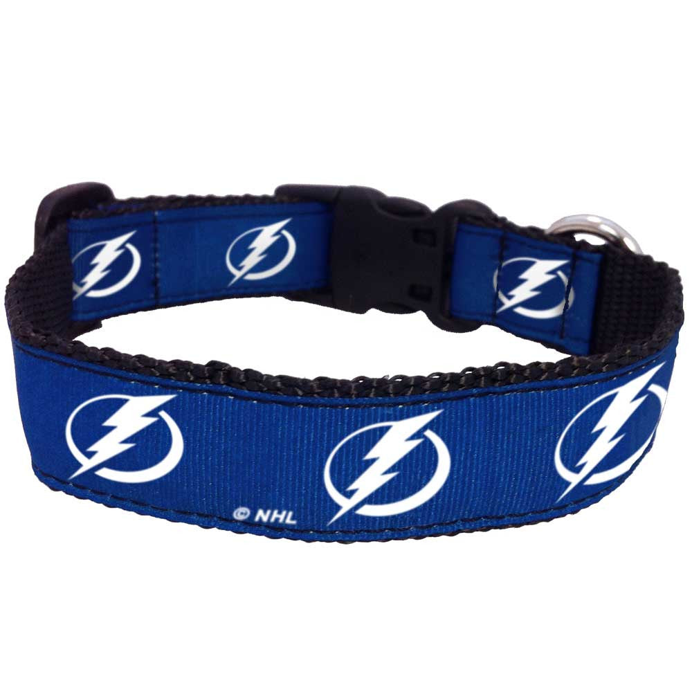 Tampa Bay Lightning Premium Dog Collar