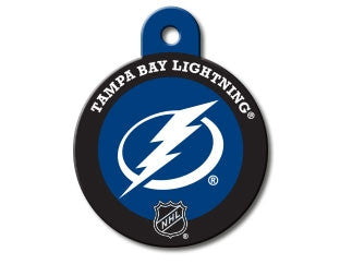 Tampa Bay Lightning Round Hockey Puck Dog ID Tag