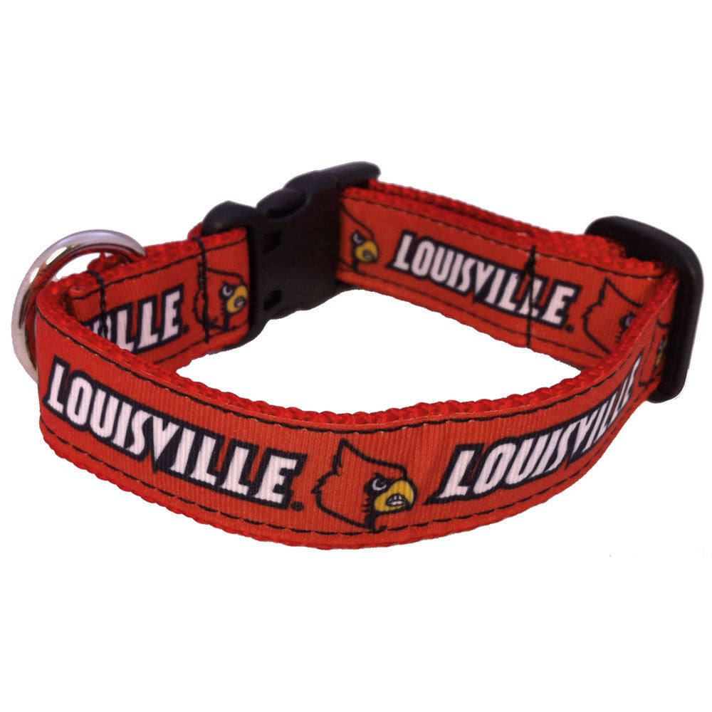 Louisville Cardinals Premium Dog Collar