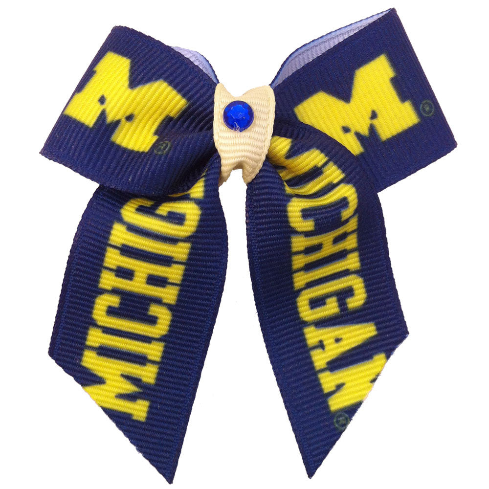 Michigan Wolverines Dog Hair Bow