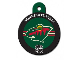 Minnesota Wild Round Hockey Puck Dog ID Tag