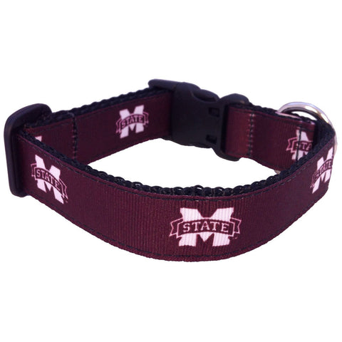 Mississippi State Bulldogs Premium Dog Collar