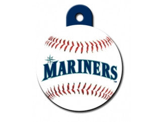 Seattle Mariners Round Baseball Dog ID Tag